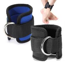 1 pair leg glute exercises home gym fitness equipment d ring ankle straps workouts