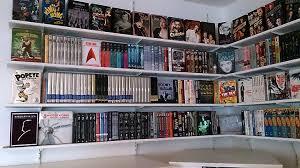 DIY DVD Shelves for Large Collection - Shelves Filled | SuperNoVAwife
