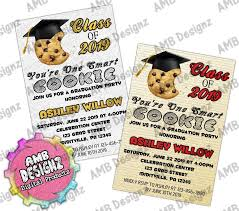 commencement invitations one smart cookie graduation invitations graduation party