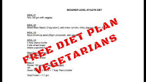 Free Muscle Building Diet Plan For Vegetarians Part 02