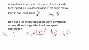 centripetal acceleration equation. centripetal acceleration from linear and angular velocity equation