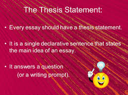 the point thesis statement ppt video online  the thesis statement every essay should have a thesis statement