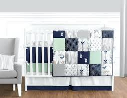little boy bedding sets navy blue mint and grey woodsy deer baby bedding boys crib set