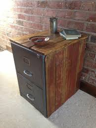 reclaimed wood file cabinet. Rough Luxe Vintage Metal Filing Cabinet Encased In Reclaimed Wood Intended File
