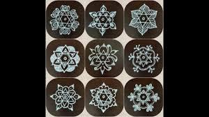 Small Kolam Designs For Apartments Easy Simple Flower Rangoli Daily Kolam Creative Poo Kolam