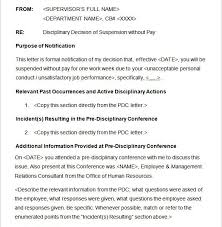 20 Sample Disciplinary Letter Templates Word Apple Pages