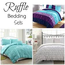 ruffled bedding set ruffle bedding sets white ruffle bedding set queen