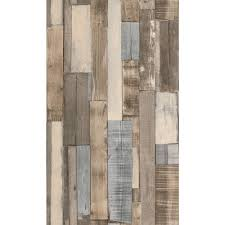 washington wallcoverings brown and gray faux wood slats wallpaper