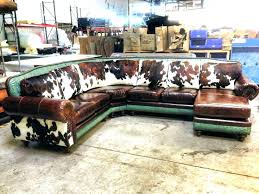 leather cowhide furniture top grain leather with cowhide accents sofa set
