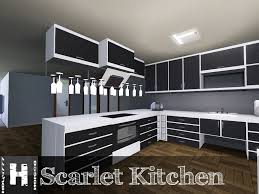 Sims 3 Kitchen Mod The Sims Scarlet Kitchen 11122011 Updated