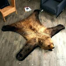 s faux bear rug nursery fake for
