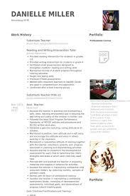Substitute Teacher Resume Samples Visualcv Resume Samples Database