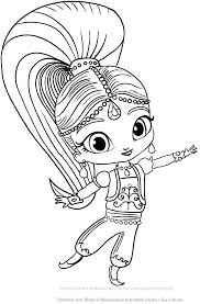 Shimmer And Shine Coloring With Shimmer And Shine Coloring Book