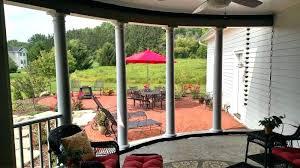 screen porch curtains curtain interior outside patio