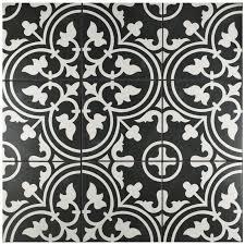 Vintage tile black and white