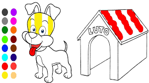 Cute Dog Coloring Book L Coloring Games Learn Colors For Children