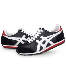 asics california 78 leather shoes black white red canada for