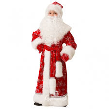 <b>Карнавальный костюм Дед</b> Мороз Велюровый красный, рост 128 ...