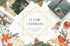 Classic Christmas Winter Clipart Set Graphic By Dinkoobraz Creative Fabrica