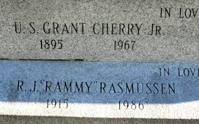 "U. S. Grant, Jr. & Gladys (Griffith) Cherry and R. J. ""Rammy"" & Jane  (Cherry) Rasmussen"