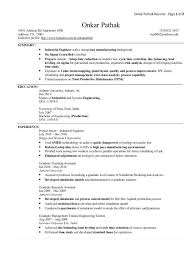 Simple Industrial Engineer Resume Templates Word | Resume Template