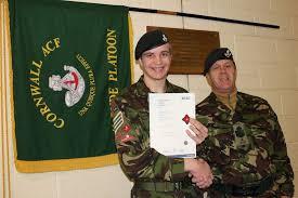 bude army cadet obtains cvqo btec diploma news devon acf  bude army cadet obtains cvqo btec diploma