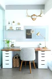 home office desk ideas. Balance A Wooden Board Across Two Storage Cabinets And Boom You Have An  Instant Ikea Office Home Desk Ideas