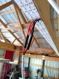 diy garage lighting. LED Strips Along Truss Lighting Garage DIY Cheapr Diy