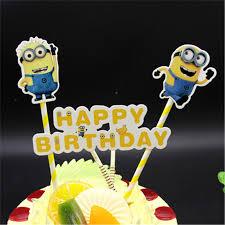 Baby Boy 1st Birthday Gifts Minion Cake Topper Birthday Decoration