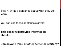 monday tuesd ay ppt video online  step 4 write a sentence about what they will learn