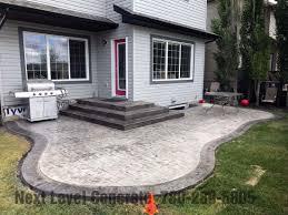 edmonton stamped concrete patio