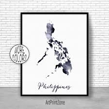 philippines print philippines art print watercolor print philippines map wall art prints artprintzone