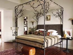 Strong Metal Canopy Bed Frame Queen