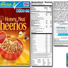 honey nut cheerios nutrition label