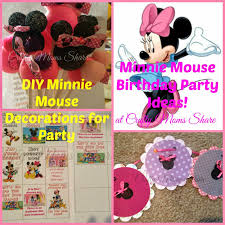 minnie mouse birthday party diy decorations