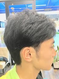 ヘアカタログ14高校生メンズスタイル写真前髪重ためアシメツーブロック