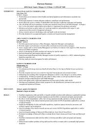 Safety Coordinator Resume Safety Coordinator Resume Samples Velvet Jobs 1