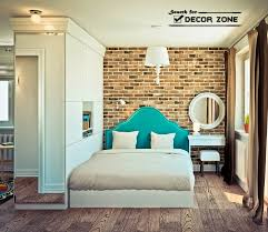 Small Studio Apartment Design   Bedroom With Bed Headboard