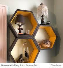 honeycomb shelves book shelf modern
