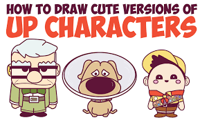 how to draw up characters cute chibi kawaii in easy steps for kids