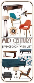 mid century modern inspirierte wohnzimmermöbel moodboard wirtschaftlicher opt