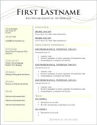 Basic Resume Template Australia Example Sample Of A Resumes General