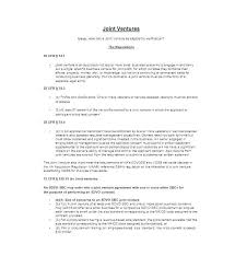 Agreement Form Doc Best Joint Venture Agreement Doc Idmanadoco