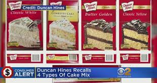 Duncan Hines Recalls Cake Mix