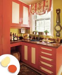 Color Of Kitchen Cabinets Orange Painted Kitchen Cabinets Quicuacom