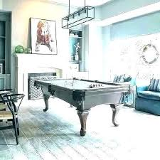 rug under pool table area for kitchen intended rugs design game room with tab