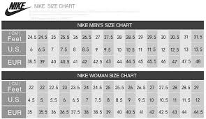Air Max Thea Size Chart Nike Air Vapormax Size Chart