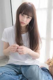 外国人風 ブラウン レイヤーカット ロングhair Salon Abiquiu 淀川 純