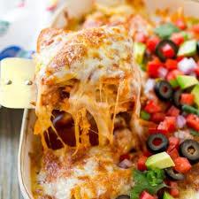 en enchilada cerole dinner at