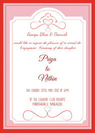 Format Invitation Card Engagement Ceremony Invitation Card With Wordings Check It Out